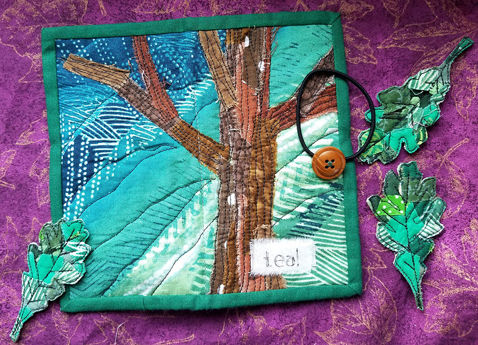Tea Wallet Cover Trees