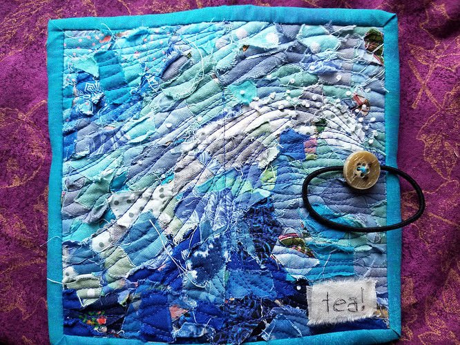 Tea Wallet Cover Ocean