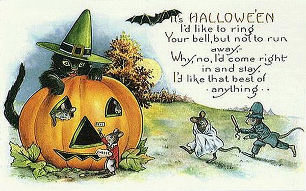 vintage-halloween-black-cat-pumpkin-mice-bat-card
